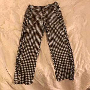 Zara gingham pants - XS
